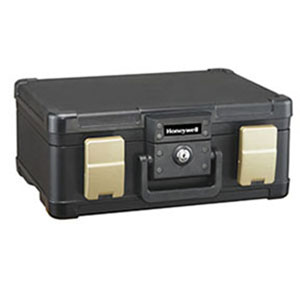 1/2 Hour UL Fire Safe Chest for Digital Media and Letter & A4 Sized Documents Laying Flat