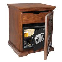 Digital Steel Security Safe in Decorative Cabinet